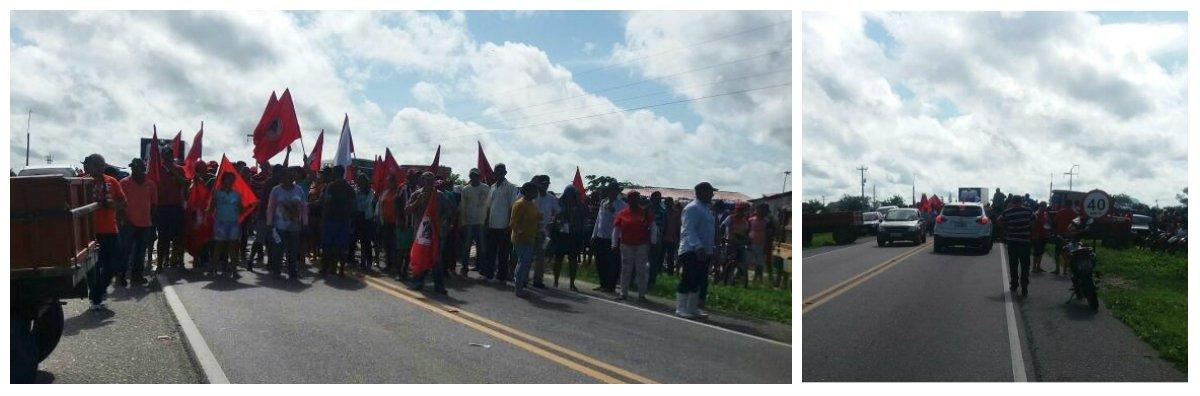 À exemplo do que está acontecendo em vários estados do Brasil, aqui no Ceará, o MST, interditou na manhã de hoje,a CE-060, na entrada de Quixeramobime a BR-122, na entrada deIbaretama, denunciando a tentativa de golpe. Em articulação com a Frente Brasil Popular, o ato é uma resposta à tentativa de golpe contra o governo da Presidenta Dilma Rousseff e faz parte da Jornada Nacional de Luta por Reforma Agrária e pela Democracia.Durante todo o dia de hoje haverá também manifestações contra o golpe em várias regiões do Ceará, organizadas pela Frente Brasil Popular, que reúne mais de 60 entidades do movimento social e popular