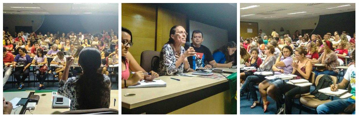 A agenda de luta contra o golpe em curso no Brasil, debatida na plenária de ontem (25) da Frente Brasil Popular do Ceará, em articulação com os movimentos sociais, deve culminar com um grande ato no dia 1o. de Maio