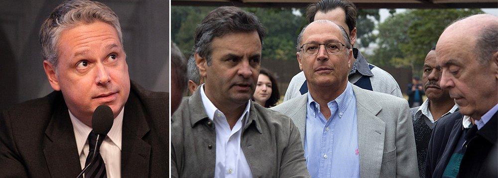 """Segundo o colunista José Roberto de Toledo, se havia dúvida sobre a mudança de postura do PSDB em relação ao apoio a Michel Temer, ela foi respondida pelo Datafolha: """"Em vez da saída TSE e da eleição que se seguiria, preferiu se concentrar no impeachment da titular e em tirar o vice do anexo. Um dia depois, o Datafolha confirmou que Aécio Neves, Geraldo Alckmin e José Serra estão andando para trás na corrida presidencial – e rapidamente""""; """"não basta mais ao PSDB ser o anti-PT. Ou aprende a vender sonhos ao eleitor, ou não ganhará a Presidência. A força da gravidade deixou de ser tucana"""", diz"""