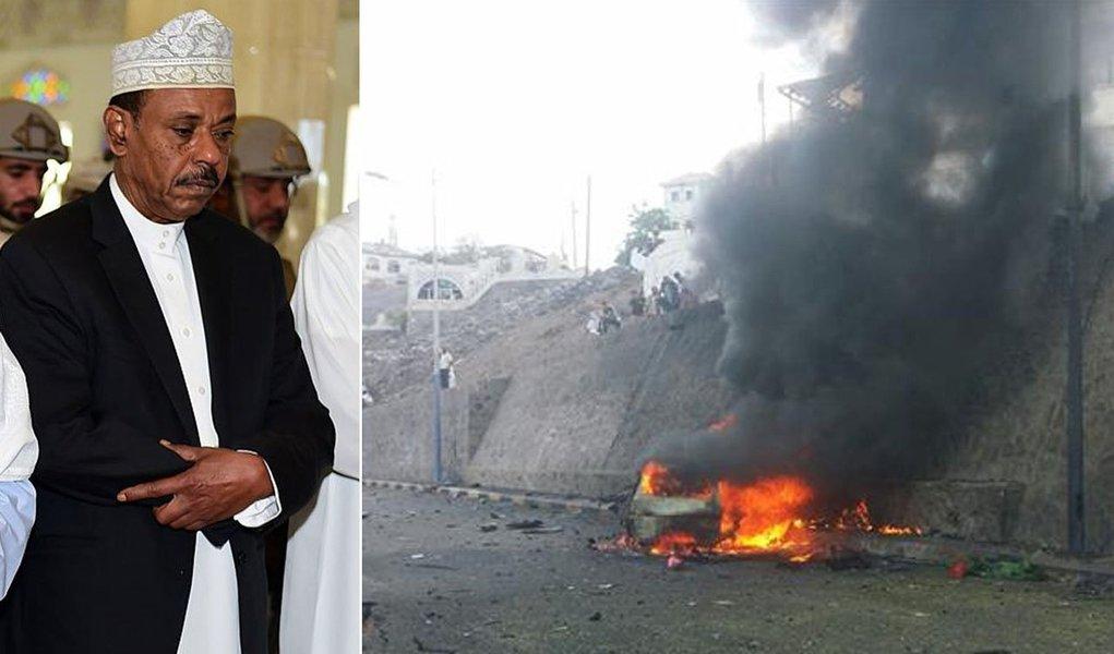 A explosão de um carro-bomba matou neste domingo, 6, Jaafar Mohammed Saad, governador da cidade de Áden, no Iêmen, e cinco de seus guarda-costas; o atentado terrorista foi reivindicado pelo grupo radical Estado Islâmico; veículo explodiu durante a passagem do comboio no qual Saad estava, no trajeto de sua casa para o trabalho; segundo levantamento da Associated Press, o EI reivindicou ataques que mataram 159 pessoas e feriram outras 345 neste ano no Iêmen
