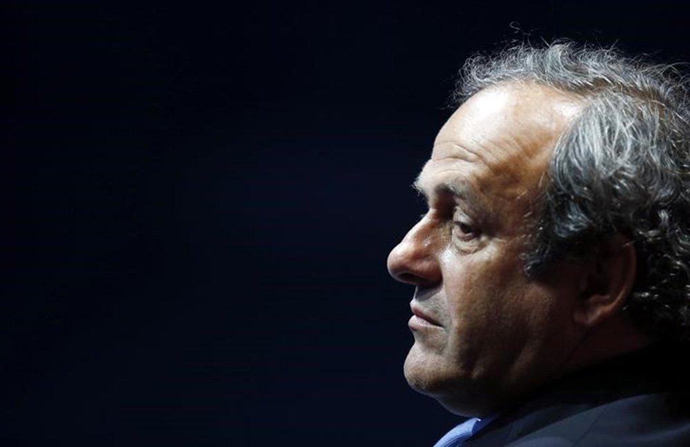 Presidente da Uefa, Michel Platini, durante evento em Mônaco. 28/08/2014 REUTERS/Eric Gaillard