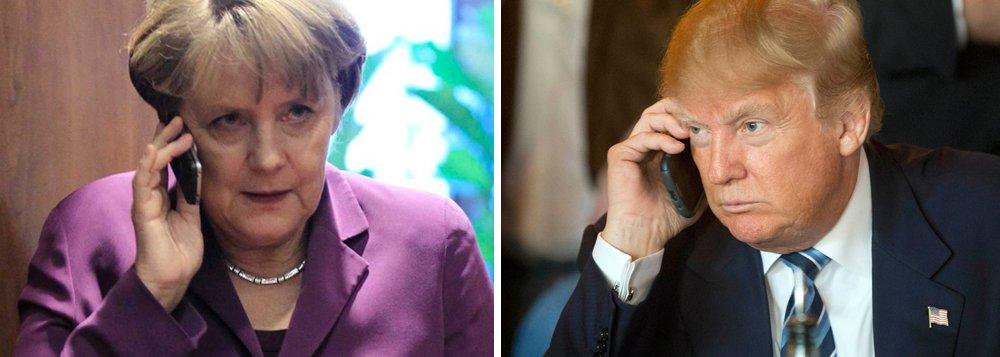 """Governo alemão lamenta a suspensão adotada pelos Estados Unidos a viagens de refugiados e cidadãos de sete países de maioria muçulmana, e irá revisar as consequências para os cidadãos alemães com dupla nacionalidade, afirmou neste domingo, 29, o porta-voz da chanceler Angela Merkel; """"A chanceler lamenta a proibição à entrada nos EUA contra refugiados e cidadãos de vários países"""", disse Steffen Seibert, acrescentando que Merkel falou de suas preocupações com o presidente dos EUA, Donald Trump, em telefonema no sábado"""
