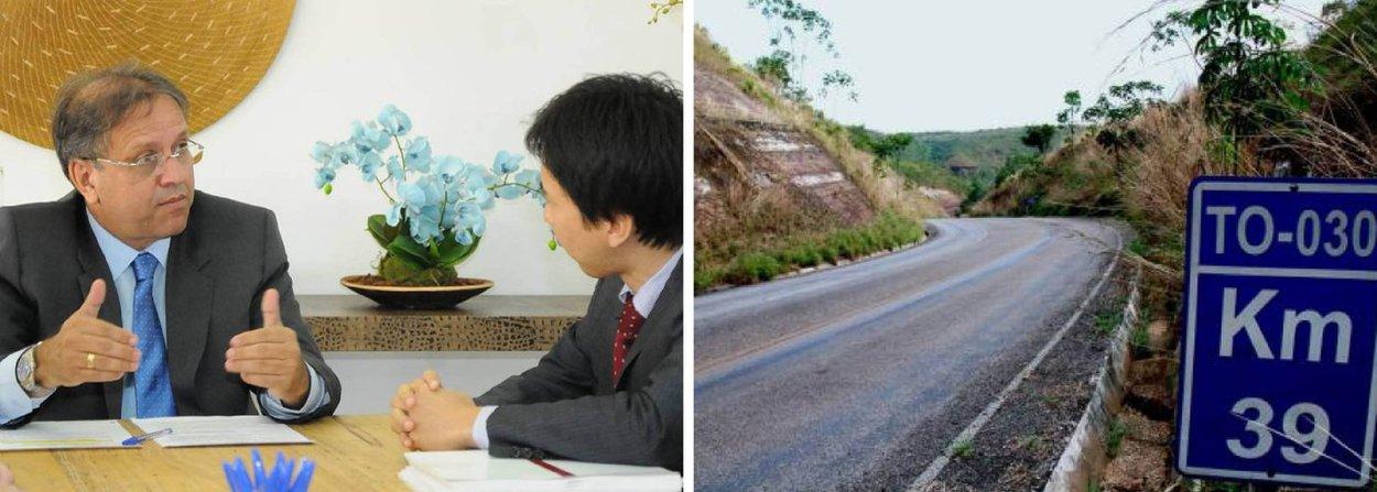"""Governador Marcelo Miranda anunciou a preparação do processo licitatório, com recursos exclusivos do Banco Mundial (Bird), para recuperação de 1.145 km de rodovias; """"Esse projeto vem em um momento oportuno e vai atender boa parte das nossas demandas no setor rodoviário. São investimentos que fomentam o processo de desenvolvimento do nosso estado"""", disse Miranda,em audiência com o especialista em transporte e gerente de projetos do Banco Mundial, Satoshi Ogita, em reunião no Palácio Araguaia"""