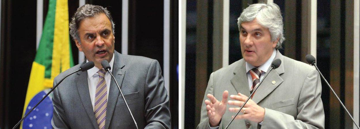 """Em nota, senador Aécio Neves diz que referências ao nome dele na delação premiada de Delcídio Amaral (PT-MS) são """"são citações mentirosas que não se sustentam na realidade e se referem apenas a 'ouvir dizer' de terceiros""""; tucano nega ter recebido propina em Furnas - """"Delcídio repete o que vem sendo amplamente disseminado há anos pelo PT que tenta criar falsas acusações envolvendo nomes da oposição"""" - e diz que o caso da""""fundação que a mãe do senador planejou criar no exterior"""" é """"assunto requentado já amplamente divulgado nas redes petistas na internet""""; e a respeito da CPI dos Correios, afirmou que """"o PSDB não atuou com o objetivo de proteger ninguém"""""""