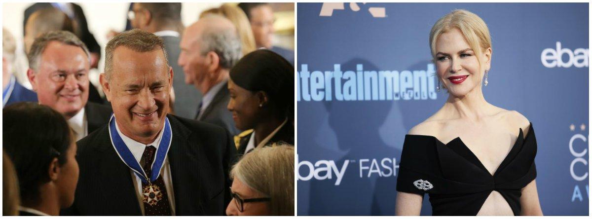 """Hanks, vencedor do Oscar, recebeu o """"Prêmio Ícone"""" por seu papel no drama """"Sully - O Herói do Rio Hudson""""; Kidman recebeu o """"Prêmio Estrela Internacional"""" por """"Lion - Uma Jornada Para Casa"""", no qual interpreta uma mulher australiana que adota uma criança indiana; os prêmios foram entregues na noite de segunda-feira, em evento que marca o início da temporada de premiações de 2017 do cinema norte-americano"""