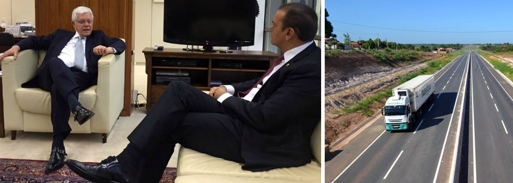 """Senador Ataídes Oliveira (PSDB) pediu nesta quarta-feira, 16, ao secretário-executivo do Programa de Parcerias de Investimentos (PPI), Moreira Franco, uma solução urgente para a retomada das obras de duplicação da rodovia BR-153 entre Anápolis e Aliança do Tocantins;""""A duplicação é fundamental para garantir a segurança dos usuários da BR-153 e para alavancar o desenvolvimento regional, uma vez que a rodovia é estratégica para escoamento da produção"""", explicou Ataídes; concessionária da rodovia, do Grupo Galvão, envolvida nas investigações da Lava Jato, teve crédito suspenso pelo BNDES e paralisou as obras por falta de recursos financeiros"""