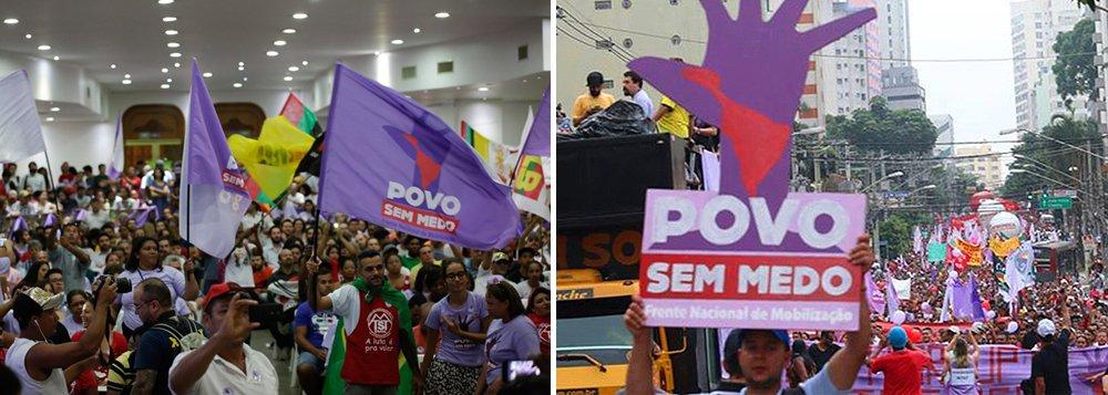 """Com a aproximação da votação do pedido de impeachment contra presidente Dilma, marcado para o próximo domingo (17), a Frente Brasil Popular e a Frente Povo Sem Medo farão uma manifestação em defesa da democracia na sexta-feira (15), a partir das 15h, no Campo Grande; """"Nossas atividades visam mobilizar a sociedade contra a aprovação do impedimento da presidenta, por compreendermos que nenhum crime foi praticado"""", dizem as lideranças em nota"""