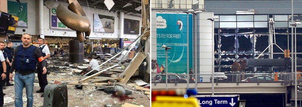 Pelo menos 34 pessoas morreram e 187 ficaram feridas nos atentados desta terça-feira 22 em Bruxelas, mostra o novo balanço provisório das autoridades; 14 pessoas morreram nas duas explosões ocorridas no aeroporto e, segundo o Ministério da Justiça, 81 ficaram feridas; de acordo com informações da empresa que administra o metrô, a Stib, 20 pessoas morreram na estação do metrô e 106 ficaram feridas