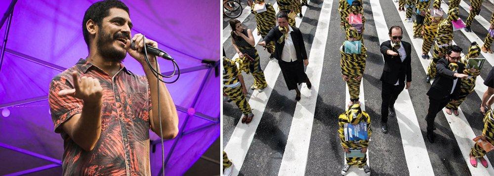 Artistas se reúnem na Virada Ocupação: apresentações a favor dos estudantes secundaristas que protestam, desde novembro, contra a proposta de reorganização escolar na rede de ensino do estado de São Paulo; depois que o governo Geraldo Alckmin revogou oremanejamento de profissionais da educação para a reorganização escolar, o evento ganhou ares de celebração e, segundo o coletivo Minha Sampa, responsável pela organização, está mantido; foram confirmados artistas como Tico Santa Cruz,Criolo (foto), Paulo Miklos, Arnaldo Antunes, Pitty, Maria Gadu e Chico César