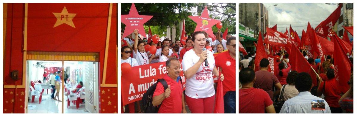 As forças progressistas de Sobral, na região Norte do Ceará, realizaram, na manhã de hoje, o ato em defesa da democracia e contra o golpe, com concentração na simbólica Praça de Cuba e caminhada até o Beco do Cotovelo, tradicional local de manifestações política no município.