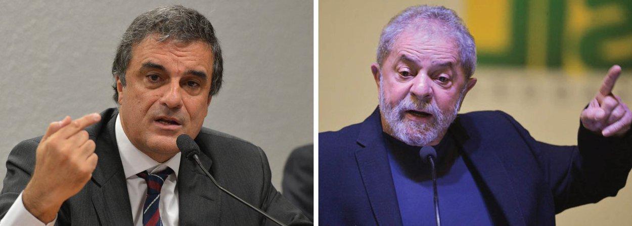 """O ministro da Justiça, José Eduardo Cardozo, afirmou nesta quinta (11) que o ex-presidente Lula virou alvo de investigações porque desafia o projeto político da oposição; Cardozo deu a declaração após ser perguntado sobre se as investigações relacionadas a Lula tentam atingir a imagem do ex-presidente; """"Acho que setores da oposição, visivelmente, querem isso. Já há algum tempo em que procuram, a cada passo, atingir o presidente Lula porque reconhecem nele o grande líder que desafia os projetos políticos da oposição"""", disse"""
