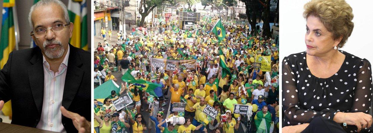 """Em nota publicada nas redes sociais, nesta sexta (15), o ex-prefeito de Aracaju, Edvaldo Nogueira (PC do B), criticou o processo de impeachment da presidente Dilma Rousseff; ele afirmou que não há crime de responsabilidade que justifique o impedimento; """"A corrupção deve ser investigada e punida severamente, independentemente de onde ela venha. Mas o que estamos vendo hoje no país é o maior atentado à democracia brasileira desde o golpe militar de 1964. É a tentativa de afastar uma presidente sem comprovação de crime, desrespeitando os votos de 54 milhões de brasileiros"""", disse; ele defende que é preciso buscar alternativas para superar a crise, mas rechaça que haja violação do Estado Democrático de Direito"""