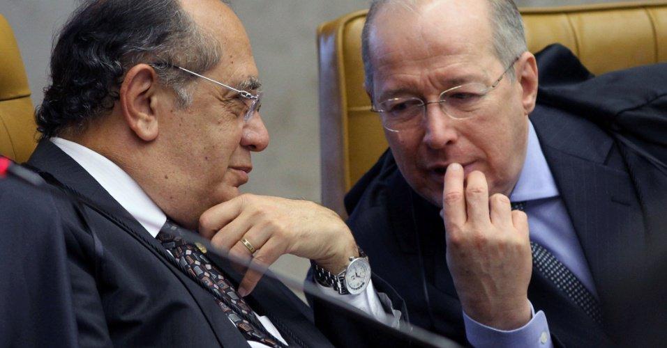 """Celso de Mello e Gilmar Mendes, ministros do Supremo Tribunal Federal, são as pontas-de-lança do """"juridiquês"""" nesta trágica divisão social do golpe"""