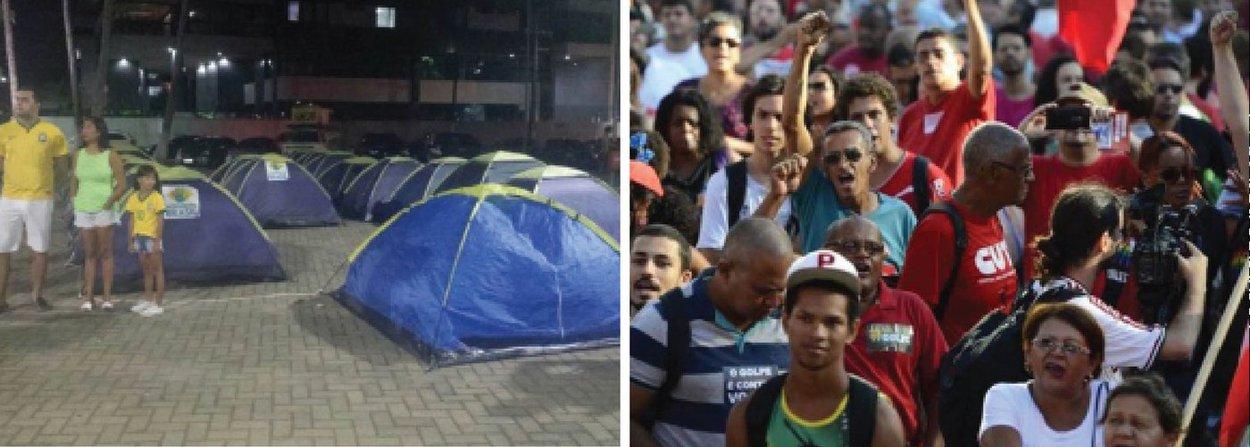 Os movimentos pró e contra o governo Dilma Rousseff (PT) estão definido como vãopara acompanhar no próximo domingo (17), em Maceió, a votação na Câmara dos Deputados, em Brasília, sobre o pedido de impeachment; o Movimento Brasil, que defende a saída de Dilma vai se reunir no clube Alagoinhas, onde já existeum acampamento montado pelos manifestantes; já a Frente Brasil Popular, que tem uma agenda vasta de mobilizações aologo desta semana, ficará no espaço Multieventos, na Pajuçara, a partir das 10h