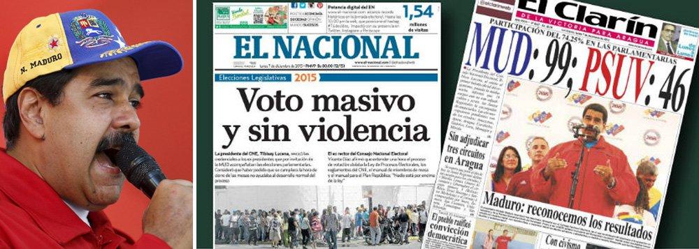 """Jornalista Fernando Brito, do Tijolaço, afirma que agora """"vamos ter a oportunidade de observar como, seja do ponto de vista econômico, seja do institucional, como é a democracia 'alheia'""""; ele destaca que tanto o presidente venezuelano, Nicolas Maduro, quanto a presidente argentina, Cristina Kirchner, aceitaram suas derrotas; """"Embora todos tenham sido apontados, durante anos e todos os dias, como autoritários e avessos às regras da democracia.No caso de Maduro, um tirano caricato, mesmo"""""""