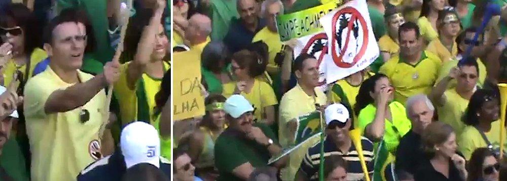 A Justiça determinou na semana passada a quebra de sigilo bancário e fiscal do presidente da Assembleia Legislativa de São Paulo, deputado Fernando Capez (PSDB); ele é acusado de receber propina no esquema de fraude na merenda escolar no estado; mas, no ano passado, antes do escândalo se tornar público, Capez era um dos mais empolgados nas manifestações contra Dilma, Lula e o PT, na Avenida Paulista