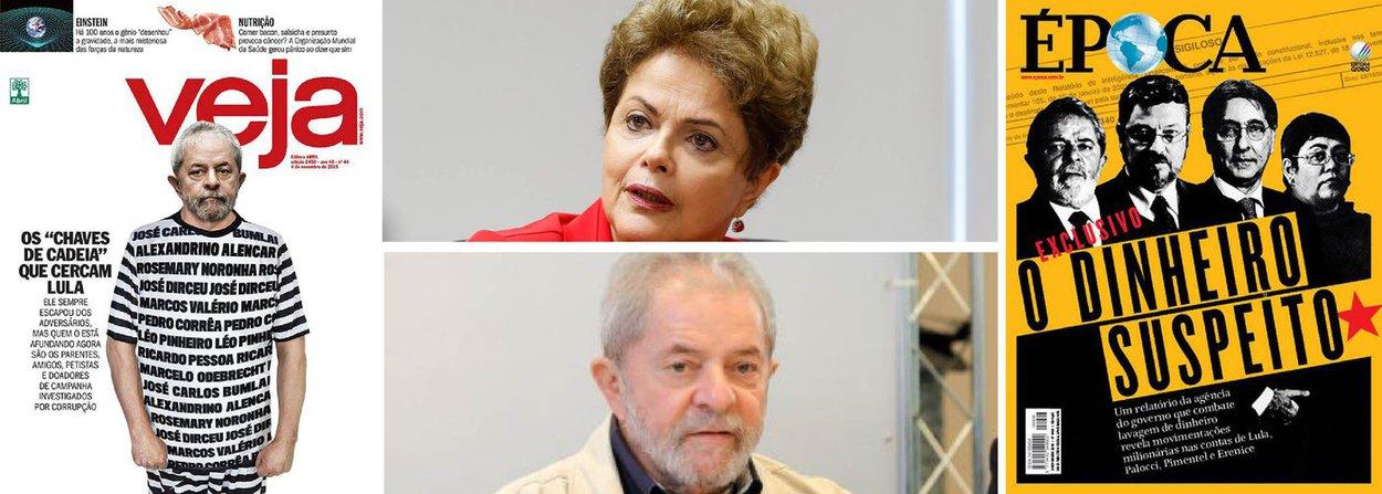 """""""Em conversas com parlamentares do PT Lula chamou a atenção para o fogo alternado dos adversários: sempre que a manobra golpista do impeachment perde força, o fogo sobe contra ele. E assim segue a pancadaria, ora alvejando Dilma, ora golpeando Lula, com o objetivo resumido por Gilberto Carvalho: levá-lo à prisão e tirá-lo da disputa de 2018"""", informa a colunista Tereza Cruvinel, ao comentar as capas de Veja e Época deste fim de semana; """"E quanto mais Dilma sair do foco, mais pesado o fogo descerá sobre Lula, seus parentes e auxiliares. Sem o impeachment, a prioridade absoluta passa a ser não deixar Lula voltar""""; confira a íntegra"""