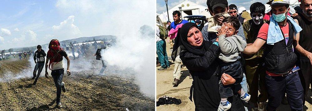 """Agência de refugiados da ONU condenou nesta segunda-feira o uso de gás lacrimogêneo pela polícia da Macedônia contra refugiados na fronteira com a Grécia; dezenas de imigrantes e refugiados ficaram feridos quando a polícia da Macedônia atirou balas de borracha e gás lacrimogêneo contra uma multidão no lado grego da fronteira; """"Pessoas se machucam e propriedades são danificadas. Danos são feitos para a percepção de refugiados e para a imagem da Europa. Todos perdem"""", disse o porta-voz do Acnur, Adrian Edwards"""