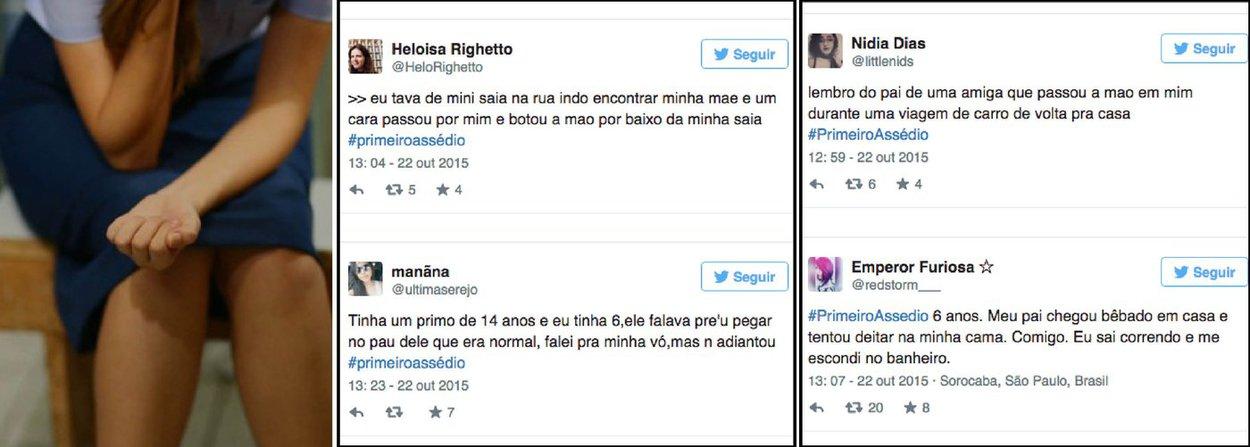 A hashtag #PrimeiroAssédio chegou, nesta quinta-feira (22), aos Trending Topics do Brasil; ação foi criada pelo coletivo feminista Think Olga após uma das participantes do MasterChef Júnior ter sido alvo de comentários com teor sexual, mesmo tendo apenas doze anos