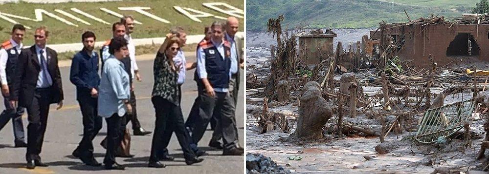 Dilma chega em Mariana para visitar áreas devastadas