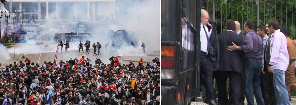 """No próximo dia 29 de abril, sexta-feira, completará um ano o massacre de professores no Centro Cívico de Curitiba a mando do governador Beto Richa (PSDB), que deixou mais de 200 feridos e ganhou repercussão nacional; dentre várias programações, educadores prometem """"surpresa"""" para os deputados do camburão; eles não anteciparam que tipo de """"homenagem"""" farão aos """"representantes do povo""""; para quem não se recorda do vexame, antes do covarde ataque aos profissionais do magistério, os parlamentares se deixaram transportar num camburão da polícia até a Assembleia Legislativa"""