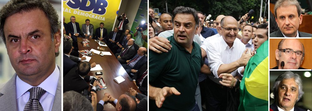 """Investigadores da Lava jato andam fazendo perguntas específicas a alguns delatores e depoentes sobre o senador Aécio Neves (PSDB-MG), segundo a colunista Natuza Nery, do Painel; líder do golpe da oposição contra o governo Dilma Rousseff, o tucano foi citado como pai de um mensalão em Furnas pelo doleiro Alberto Youssef, como receptador de um terço da propina da mesma estatal pelo lobista Fernando Moura, como """"o mais chato"""" cobrador de recursos da UTC pelo entregador Ceará; também aparece em uma suposta delação do senador Delcídio Amaral (PT-MS); na manifestação deste domingo contra o governo, Aécio foi hostilizado, ao lado do governador Geraldo Alckmin, e impedido de falar; """"expulso da balada"""", virou piada e meme nas redes sociais"""