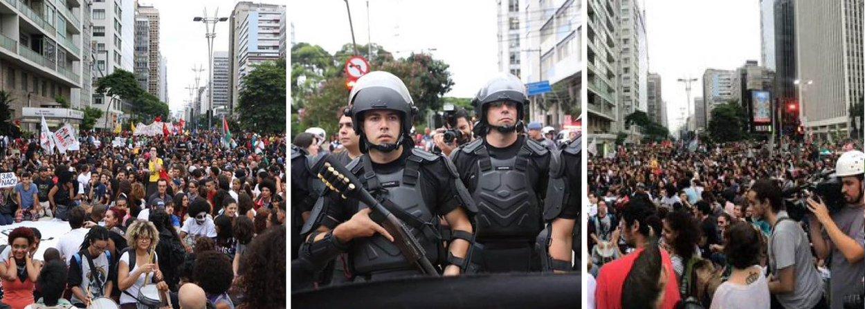 Ato Em Sao Paulo Tem Bombas Feridos E Presos Brasil 247