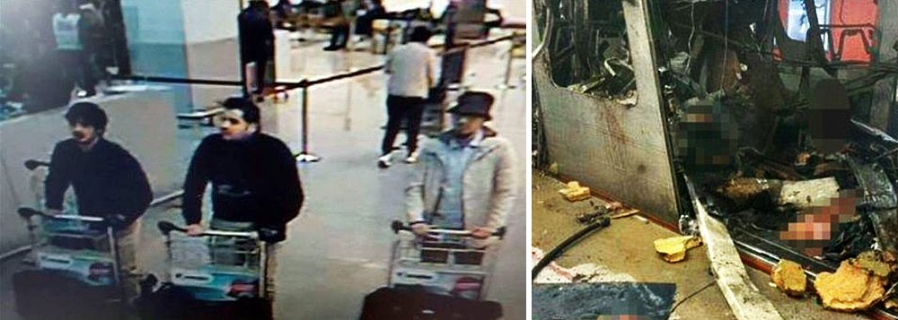 Os dois homens-bomba que se explodiram no aeroporto de Bruxelas, Khalid e Brahim El Bakraoui,eram irmãos; um outro suspeito,Najim Laachraoui, que também teria ligações com os ataques em Paris, teria sido preso nesta quarta-feira; fotografado por câmeras de segurança no aeroporto de Bruxelas ao lado dos irmãos El Bakraoui, Laachraoui não detonou uma bomba, que foi destruída em uma explosão controlada realizada pela polícia