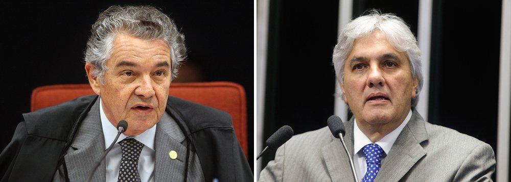 """""""Não cabe justiçamento e o STF não fez justiçamento"""", afirmou Marco Aurélio Mello, ao comentar a decisão do Supremo que determinou a prisão do senador; ele também rebateu a posição do setor jurídico de que as gravações feitas pelo filho do ex-diretor da Petrobras Nestor Cerveró não seriam válidas, já que teriam sido feitas sem autorização judicial; """"Já endossamos isto lá atrás"""", assegurou"""
