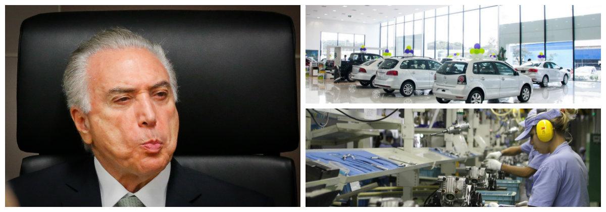 Michel Temer, veículos novos, indústria