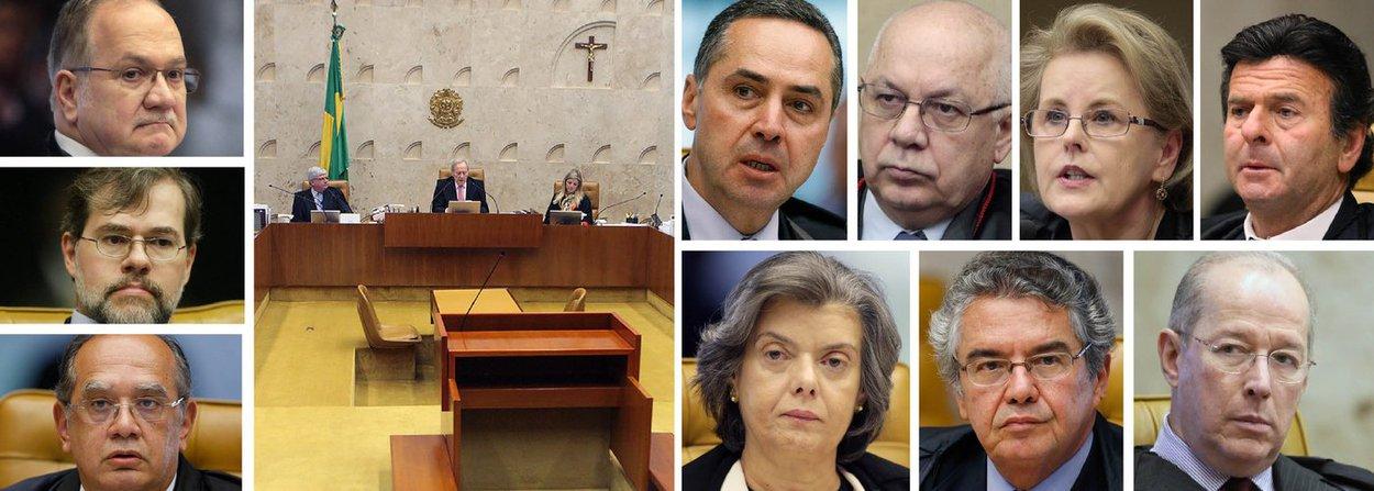 """O voto do ministro Luiz Edson Fachin sobre o rito do impeachment da presidente Dilma Rousseff sofreu divergências importantes no STF nesta tarde; Luís Roberto Barroso abriu a divergência ao argumentar que o voto secreto na formação da comissão do impeachment foi uma """"deliberação unipessoal e discricionária"""" do presidente da Casa, Eduardo Cunha (PMDB-RJ); acompanharam os pontos centrais de seu posicionamento os ministros Teori Zavascki, Rosa Weber, Luiz Fux, Cármen Lúcia e Marco Aurélio Mello; apesar de ainda não ter votado, o ministro Celso de Mello manifestou que não se pode deixar de reconhecer ao Senado a possibilidade de """"deliberar pela extinção do processo""""; Dias Toffoli e Gilmar Mendes acompanharam Fachin; acompanhe ao vivo"""