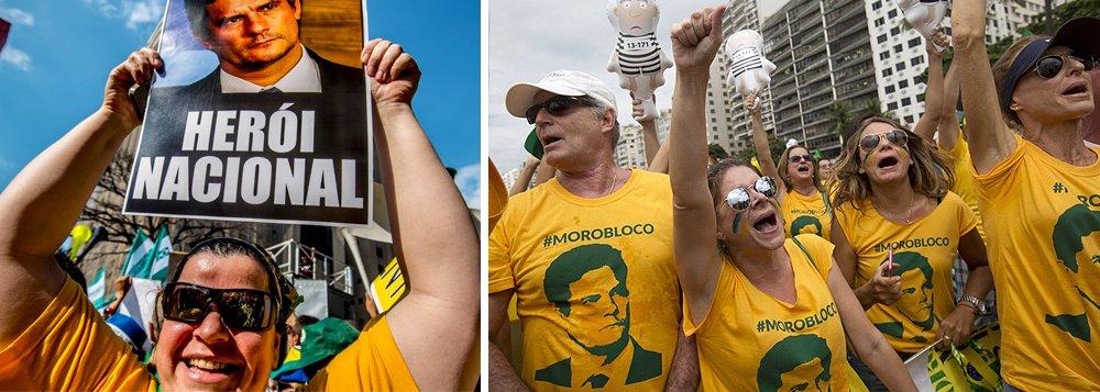 """Instituto Ideia Inteligência fez pesquisa telefônica com 10 mil eleitores do país perguntando em quem, entre quatro nomes, votariam para presidente; segundo a colunista Mônica Bergamo, Aécio Neves (PSDB-MG) ficou com 24%, seguido de Lula, com 21%, e Marina Silva, com 18%; o juiz Sergio Moro, da Lava Jato, ficou com 9% da preferência; a resposta """"nenhum deles"""" foi a escolhida por 25%"""