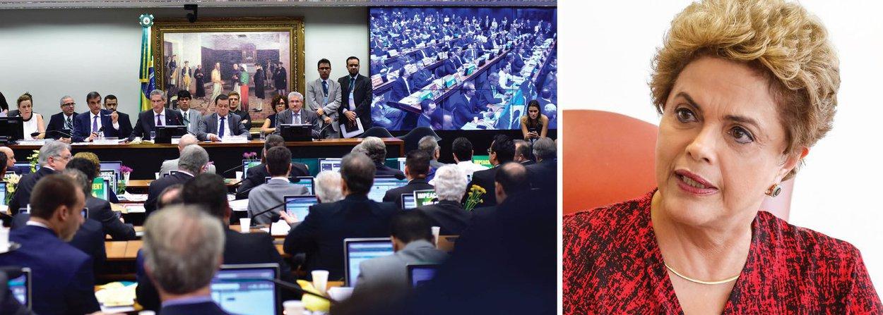 """Após oito horas de debates, a comissão especial que discute o impeachment da presidente Dilma Rousseff aprovou o relatório favorável ao impedimento. Foram 38 votos a favor do impeachment e 27 votos contrários; o líder do governo na Câmara, deputado José Guimarães (CE), acusou o deputado Jovair Arantes (PTB-GO) de ter produzido um parecer frágil e sem fundamento para justificar a abertura do processo de impedimento da presidente por crime de responsabilidade; o PMDB liberou sua bancada; """"A corrupção tomou conta da Petrobras, da Eletrobras, das obras da Copa, e por isso vemos hoje um governo literalmente dominado pela corrupção"""", disse o deputado Mendonça Filho (DEM-PE); o processo agora será votado em plenário; para passar, são necessários 342 votos a favor do impeachment"""