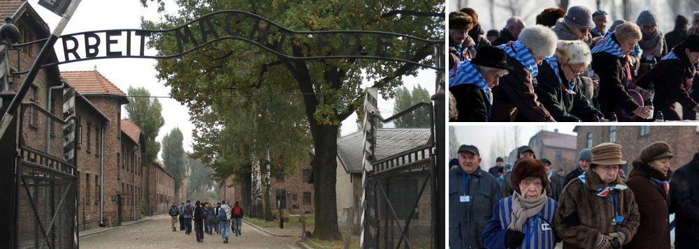 """Nesta sexta-feira (27), Dia Internacional da Lembrança ao Holocausto, é lembrado o 72º aniversário da libertação do campo de concentração; reportagem especial da Deutsche Welle traz relatos de sobreviventes ao campo de extermínio de Auschwitz-Birkenau, onde mais de 1 milhão de pessoas foram assassinadas, durante o regime nazista; """"O dr. Mengele ficava na nossa frente e aí fazia um gesto de mão, apontando com o polegar para um lado ou para o outro. Para a esquerda, a pessoa ainda tinha um prazo antes da execução; para a direita, queria dizer: 'Você vai para a câmara de gás'"""", lembra a sobrevivente Esther Bejarano, 90;Sobreviventes do Holocausto prestam homenagem no campo de concentração nesta 6ª"""