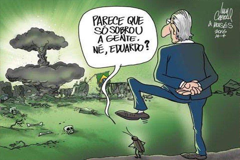 """Ilustração para artigo de Fancisco Chagas """"Os golpistas e a tática da terra arrasada"""""""