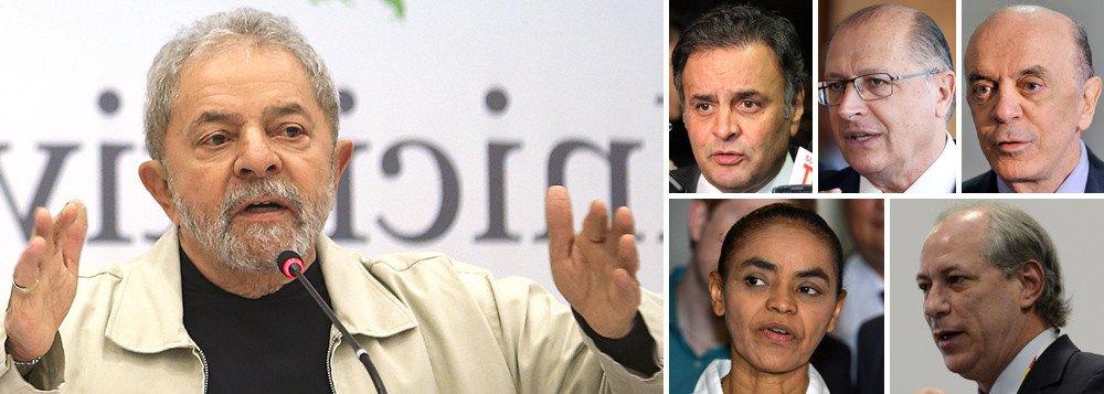 """Fernando Brito comenta o aumento da rejeição aos possíveis candidatos à Presidência em 2018: 'É obvio que a rejeição a Lula, se é que é esta, é resultado de uma campanha de insultos, acusações e ataques que já completou até aniversário, sem falhar um dia sequer. Mas, margem de erro para cá, para lá ou """"ajudinhas"""", o fato é que metade da população foi levada a rejeitar todos os políticos de maior expressão do país'; 'Duas instituições têm papel importante nesta nesta generalização da política: a imprensa e o Ministério Público. Semearam e regaram, diariamente, o """"ninguém presta""""', acrescenta"""