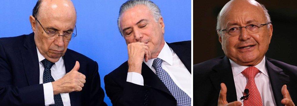 """""""Todo mundo errou sobre o pós-Dilma"""", diz o economista Maílson da Nóbrega, ex-ministro da Fazenda e um dos sócios da consultoria Tendências, que previa a volta da confiança com a dupla Michel Temer e Henrique Meirelles; no entanto, embora admita o erro de suas previsões e de outros agentes econômicos que apoiaram o golpe, ele culpa o PT, pela crise atual; ou seja: a culpada é a presidente deposta Dilma Rousseff, que levou o Brasil ao pleno emprego, e não as forças golpistas que produziram 12 milhões de desempregados e o maior rombo fiscal de todos os tempos"""