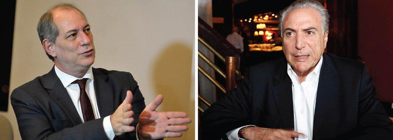 """Em jantar com a presidente Dilma Rousseff nessa quinta-feira, 10, o presidenciável do PDT e um dos combatentes mais enfáticos do golpe, Ciro Gomes afirmou que o vice-presidente Michel Temer está conspirando faz tempo""""; """"Está em curso um golpe salafrário-mafioso"""", disse Ciro; segundo ele, Temer está articulando com um poder menor do que tem a presidente da República; também participou do encontro o governador do Rio de Janeiro, Luiz Fernando Pezão (PMDB), um dos maiores defensores da presidente dentro do PMDB"""