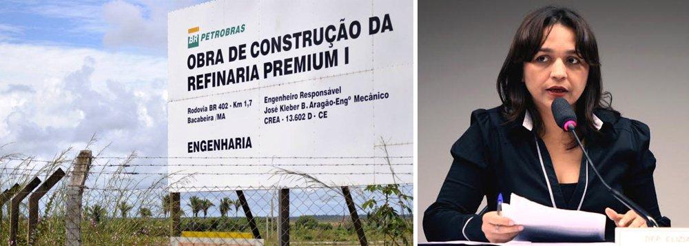 """Deputada Eliziane Gama (PPS-MA) disse ao ministro de Minas e Energia, Eduardo Braga, durante audiência pública realizada pela Comissão Externa da Câmara, que analisa o cancelamento das refinarias da Petrobras no Nordeste, que as investigações feitas pelo Judiciário e pela CPI da Petrobras apontam para a existência do pagamento de propinas para construir a unidade de refino Premium I, que seria erguida no Maranhão; """"Tivemos informações claras na CPI de que houve pagamento de propina na refinaria Premium Um que teve investimento até o momento da sua suspensão de dois bilhões de reais"""", afirmou"""