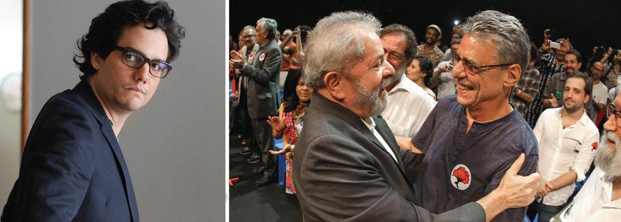 """No evento em defesa da democracia nesta noite no Rio de Janeiro, o ator Wagner Moura fez uma enfática manifestação contra o golpe; """"Nunca votei em Dilma. Mas 54 milhões de outros brasileiros votaram"""", disse ele, numa fala transmitida por webcam; entre os presentes, além do ex-presidente Lula e do compositor Chico Buarque, estão nomes como Leonardo Boff, Eric Nepomuceno, Beth Carvalho, Gregório Duvivier e outros nomes da cultura brasileira; """"Sem ódio, com inteligência, vamos mostrar que os artistas brasileiros defendem a democracia"""", disse ainda Wagner Moura"""