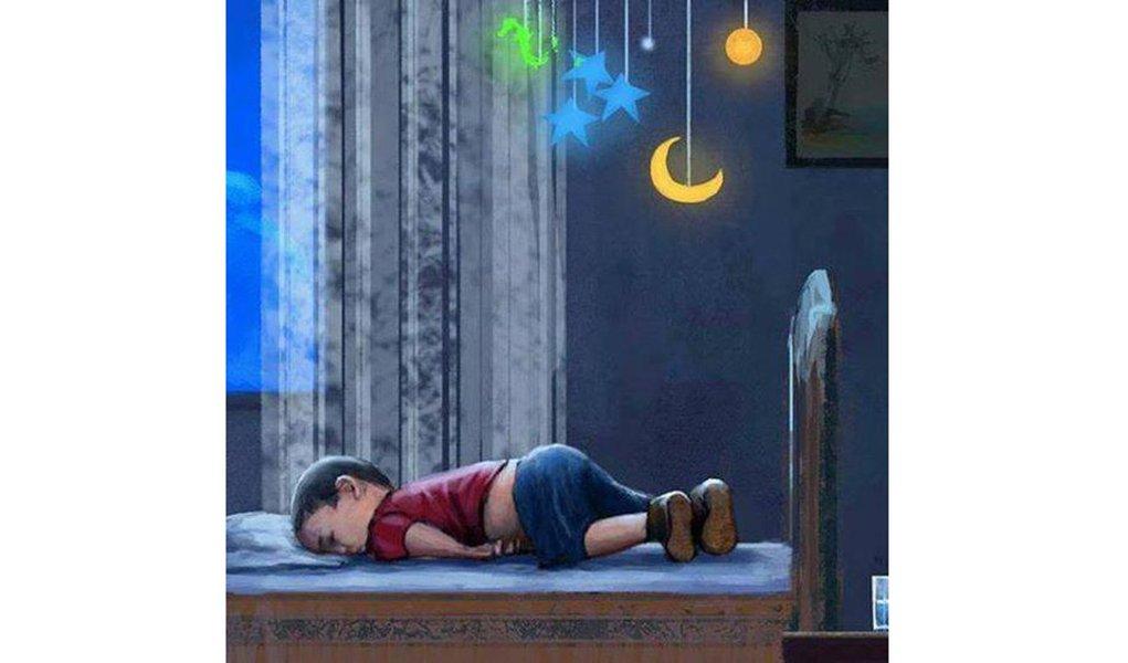 O corpo, encontrado no mar da Turquia,era do pequeno Aylan?Ou era ele sonhando que dormia?