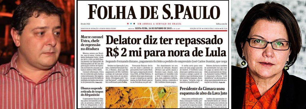 """Para a jornalista Vera Guimarães Martins, """"a Folha já foi além das tamancas na última sexta (16) ao cravar a manchete 'Delator diz ter repassado R$ 2 mi para nora de Lula'. Primeiro, porque não foi isso que Fernando Baiano disse""""; segundo ela, trata-se do problema de """"títulos 'esquentados': o impacto inicial não correspondido deixa a reportagem com cara de bala de festim"""""""