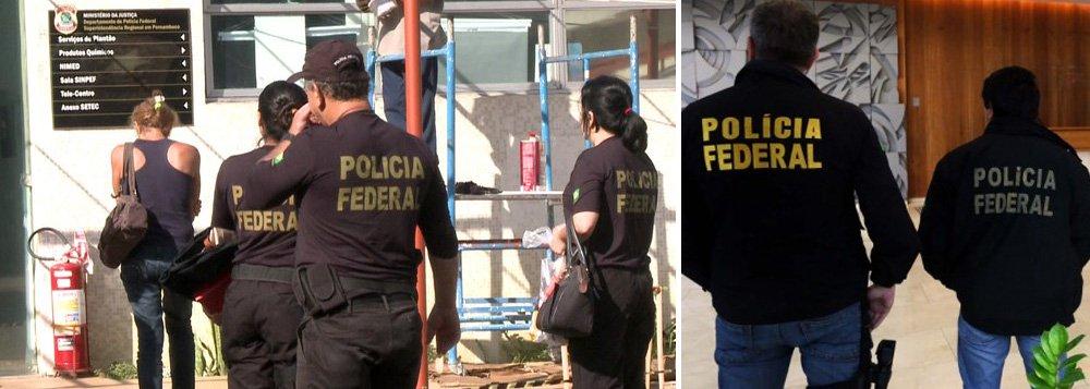 Operação Citrus Prev investiga um esquema de fraudes contra o Instituto Nacional do Seguro Social (INSS) em Pernambuco , prejuízos aos cofres públicos é estimado em mais de R$ 1 milhãofoi hoje (3) alvo da oda Polícia Federal; prejuízo calculado é de pelo menos R$ 1 milhão, com base apenas nos primeiros casos de concessão irregular de benefícios; esquema era baseado na atuação de intermediários para a concessão de benefícios na agência de Limoeiro (PE), interior do Estado; agentes cumpriram um mandado de prisão temporária, 14 de condução coercitiva, além de outros 11 mandados de busca e apreensão