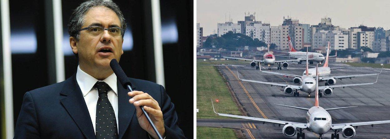 """O vice-líder da bancada do PT na Câmara, Carlos Zarattini (SP), denunciou nesta terça (21) como """"absolutamente criminosa e contrária aos interesses nacionais"""" a decisão tomada pelo plenário da Câmara de aprovar emenda à Medida Provisória do Setor Aéreo (MP 714/16) que permite que empresas estrangeiras possam ter total controle do capital de companhias aéreas no Brasil; o texto original, enviado pela presidente Dilma Rousseff, permitia a possibilidade de controle dos atuais 20% para até 49%, mas emenda apresentada pelo líder do PMDB na Casa, deputado Baleia Rossi (SP), ampliou para 100%; a emenda foi aprovada por 199 votos a 71"""