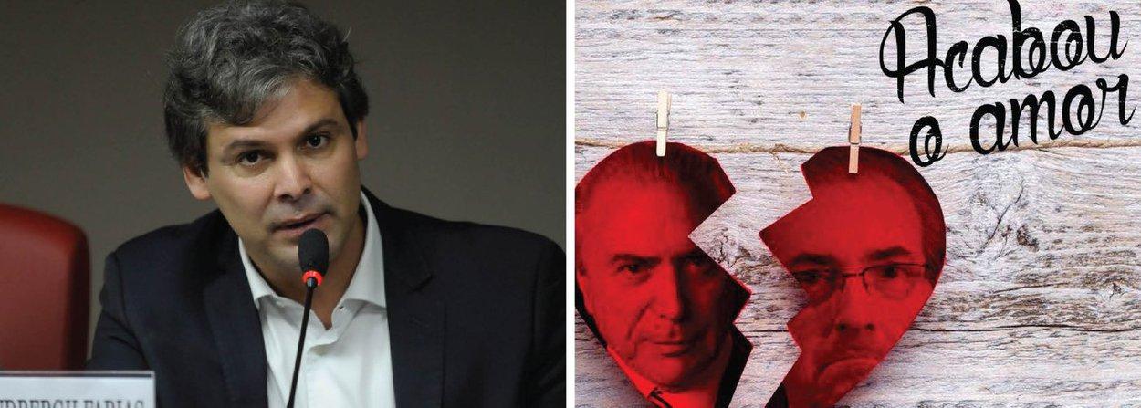 """Pelo Facebook, o senador Lindbergh Farias (PT-RJ) comentou a decisão do Conselho de Ética de aprovar a cassação de Eduardo Cunha (PMDB); """"O Conselho de Ética da Câmara aprovou a cassação do mandato de Cunha, abrindo caminho para a sua prisão e para a delação premiada mais explosiva da História! Cunha tem o poder de arrasar com o governo Temer. Te cuida, Michel!"""", publicou"""