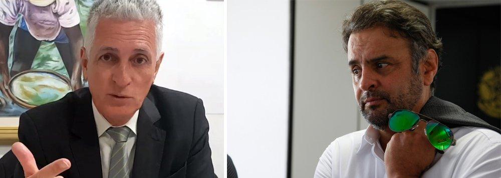 """Em vídeo, o deputado Rogerio Correia (PT-MG) defende a cassação do senador Aécio Neves (PSDB-MG), que foi delatado por dois executivos da Odebrecht por propinas de 3% nas obras da Cidade Administrativa, em Belo Horizonte, que foi orçada em R$ 500 milhões e custou R$ 2,1 bilhões; Correia diz que a denúncia é antiga, mas que Aécio foi protegido até hoje por uma """"blindagem"""" que criou junto à mídia, setores do Ministério Público, Tribunal de Contas e da Justiça; o parlamentar cobra ainda a devolução aos cofres de Minas Gerais o dinheiro das irregularidades dessa obra """"desnecessária"""", além de """"rapidez"""" e """"seriedade"""" por parte da Justiça; """"Não dá para o nosso querido juiz Sérgio Moro ficar de namorico com Aécio Neves. Também não é possível que Janot demore a apresentar essas denúncias""""; assista"""