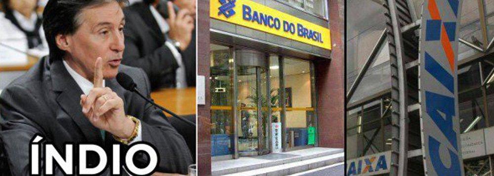 O senador Eunício Oliveira (PMDB-CE), o Índio nas planilhas da Odebrecht, tem contratos de mais de R$ 700 milhões com bancos estatais