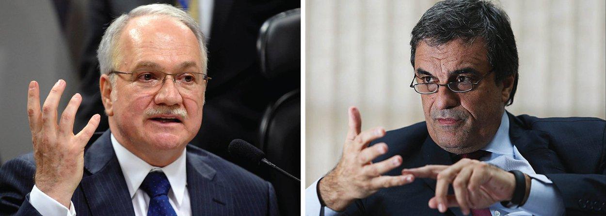 """O mandado de segurança impetrado nesta quinta-feira, 14, pelo ministro José Eduardo Cardozo no Supremo Tribunal Federal (STF) para suspender o processo de impeachment será relatado pelo ministro Edson Fachin; Cardozo argumenta que o processo está """"contaminado"""", com a inclusão da delação do senador Delcídio do Amaral; já a ADI movida pelo PCdoB, solicitando que o STF determine ao presidente da Câmara, Eduardo Cunha, que a ordem de votação da sessão do impeachment seja alternada, será relatada pelo ministro Marco Aurélio Mello"""