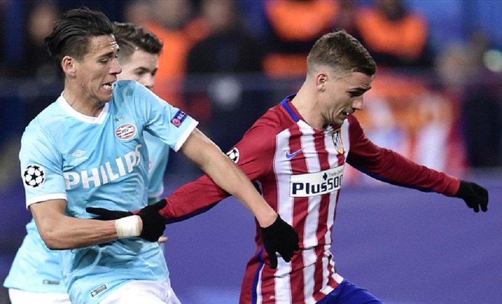 Atlético de Madri chegou às quartas de final da Liga dos Campeões depois de derrotar o PSV Eindhoven por 8 x 7 nos pênaltis, no confronto de oitavas de final; Juanfran converteu a penalidade decisiva no estádio Vicente Calderón;time treinado pelo argentino Diego Simeone está entre os oito melhores pelo terceiro ano consecutivo