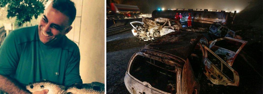 O corpo do empresário Pedro Idalgo Filho, de 55 anos, sexta vítima fatal do acidente com um caminhão-tanque na BR-277, no Paraná, é velado em Apucarana, no norte do estado; Idalgo foi internado no Hospital Evangélico com 90% do corpo queimado; ele foi transferido do Hospital de Paranaguá para Curitiba, mas faleceu